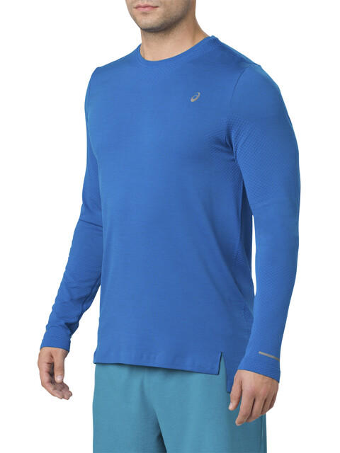 asics Seamless LS Shirt Men Race Blue Heather